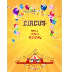 Circus poster on yellow background vector