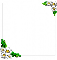 daisy cartoon background vector image vector image