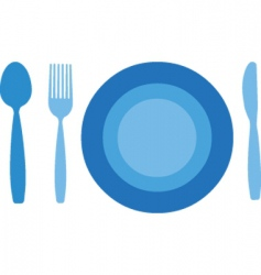 dinner table vector image