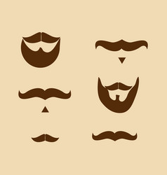 Elements of movember background vector