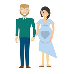 family pregnancy couple image vector image
