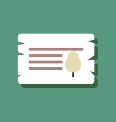 flat icon design collection paper from tree in vector image vector image