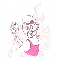 flower woman vector image vector image