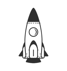 icon rocket vector image