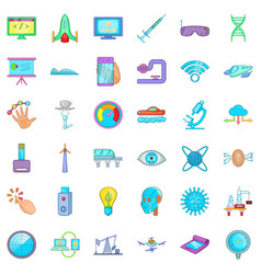 loading icons set cartoon style vector image vector image