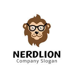 Nerd Lion Design vector image
