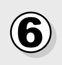 Number 6 sign design template element vector