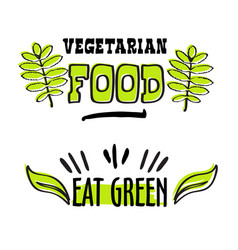 Organic and vegan logo labels vector
