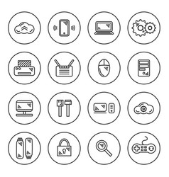 outline it icon set vector image