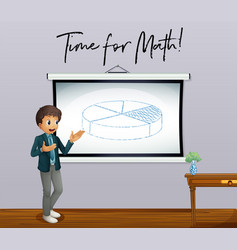 phrase time for math with math teacher in vector image vector image