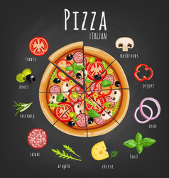 Pizza italiano vector