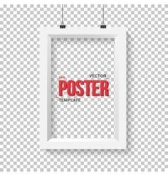 Poster frame mockup realistic eps10 vector