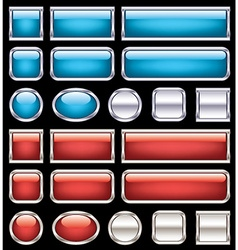 Set of glossy buttons vector