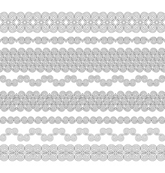 Set of seamless brushes to create frames borders vector image