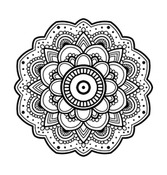 Simple floral mandala vector