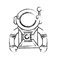 Suit space astronaut image sketch vector