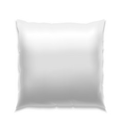 Template White Blank Pillow vector image