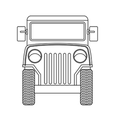Jeep colombian coffee car vector