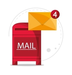 Mail message communication design vector