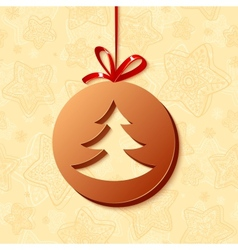 Christmas chocolate greetings card vector image