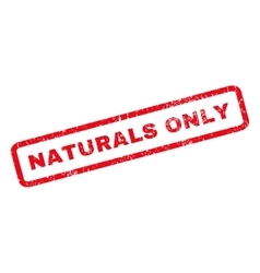 Naturals only rubber stamp vector