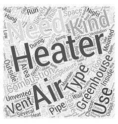 Greenhouse heater word cloud concept vector