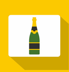 Champagne bottle icon flat style vector
