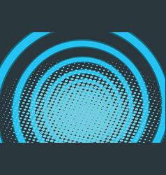Blue circle ring radio pop art background vector