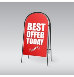 Sandwich board with an inscription best offer vector