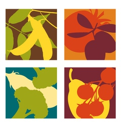 abstract vegetable designs set 3 vector image