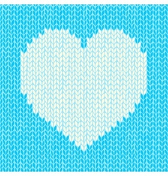 Seamless background with knitted heart vector