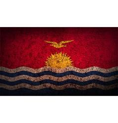 Flag of kiribati with old texture vector