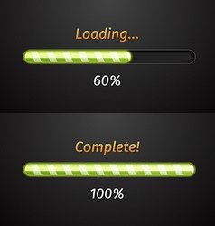 Green progress bars vector