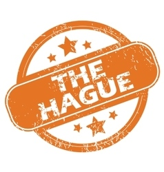 The hague rubber stamp vector