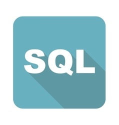 Square sql icon vector