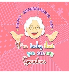 Grandmother and grandfather day vector