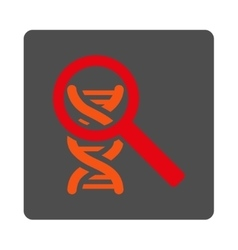 Explore dna rounded square button vector