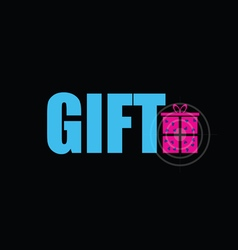 Gift on black background vector