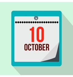 Columbus day calendar flat icon vector