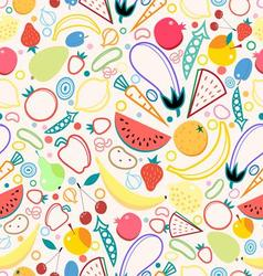 Bright colored seamless pattern fruits vector