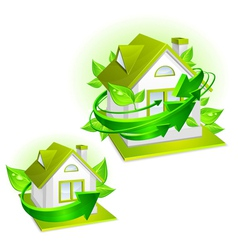 House ecology protection vector
