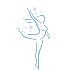 Abstract woman dancing vector