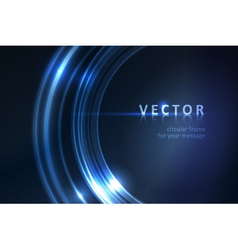Blue glowing frame vector