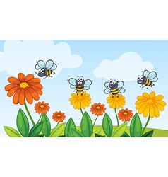 A flying bees vector image