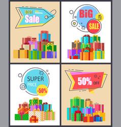 best sale super price posters vector image