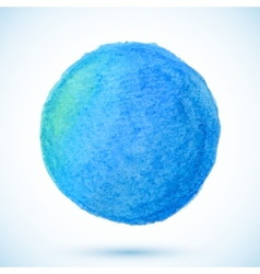 Blue isolated watercolor pencil circle vector