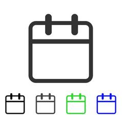 Calendar leaf flat icon vector