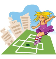 city playground vector image