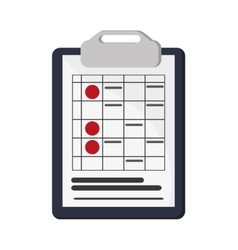 clipboard and document icon vector image