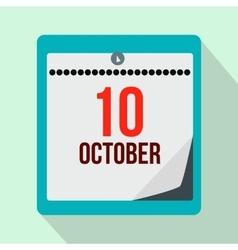 Columbus day calendar flat icon vector image vector image